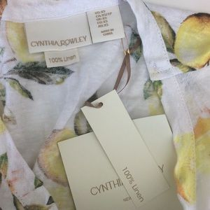 Cynthia Rowley Tops - Lemon Tie Tank